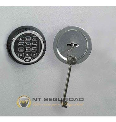 Cerradura de llave y electrónica Caja Fuerte Ignífuga Zephir Duo 3
