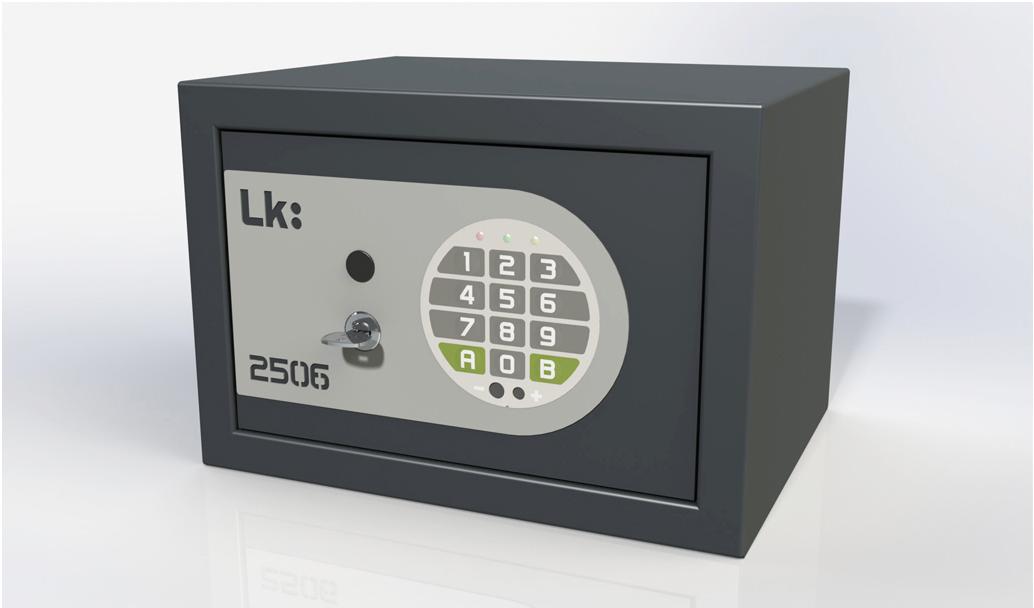 Caja Fuerte de Sobreponer LK 2506 llave y cerradura electrónica
