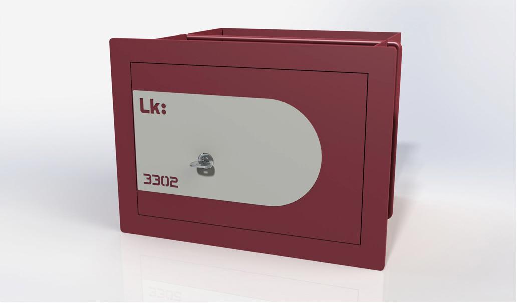 Caja Fuerte de Empotrar LK 3302 con Llave de puntos