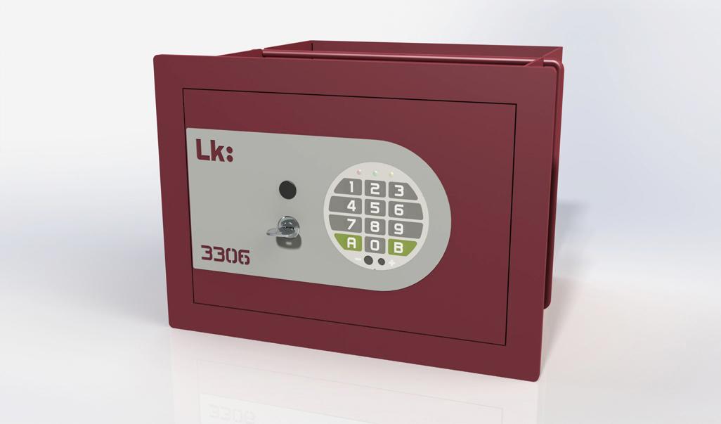 Caja Fuerte de Empotrar LK 3306 con llave y cerradura electrónica