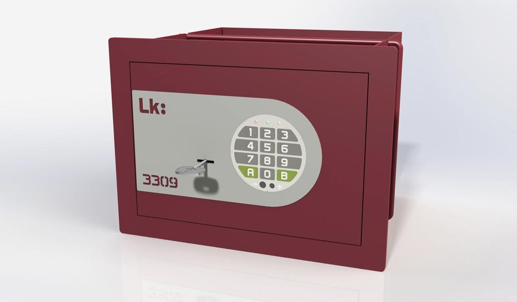Caja Fuerte de Empotrar LK 3309 con llave y cerradura electrónica