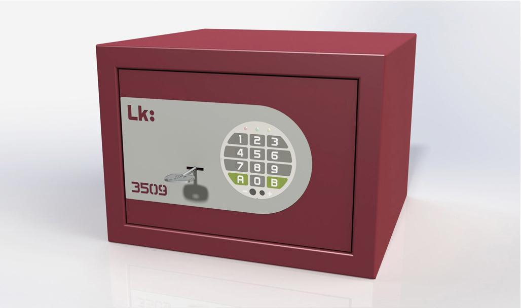 Caja Fuerte de Sobreponer LK 3509 llave y cerradura electrónica