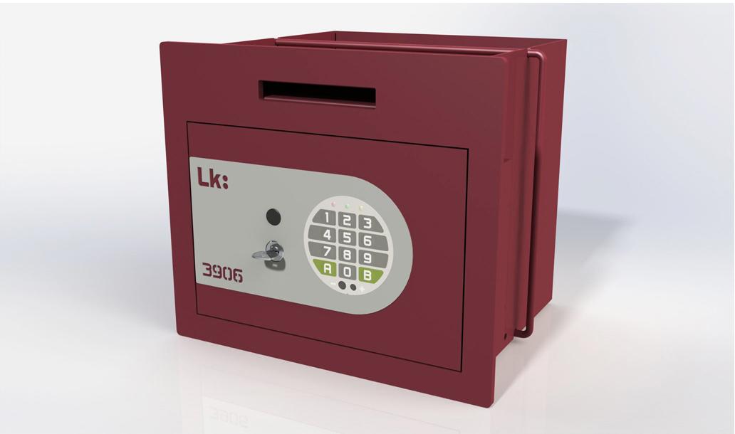 Caja Fuerte de Empotrar LK 3906 con cerradura de puntos y electrónica
