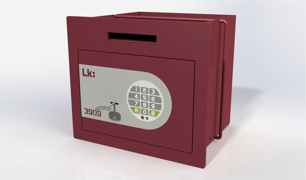 Caja Fuerte de Empotrar LK 3909 con cerradura de gorjas y electrónica