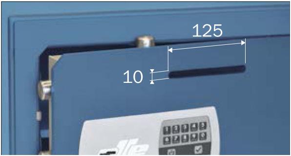 Ollé Serie 800 Sobreponer con ranura y Cerradura Electrónica Ocluc | NTSeguridad