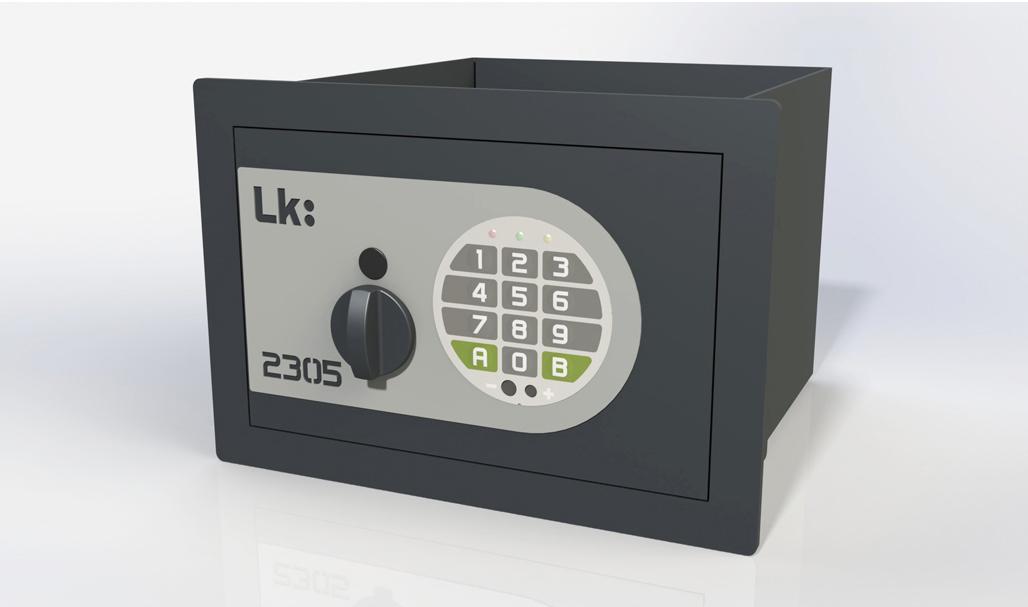 Caja Fuerte de Empotrar LK 2305 con cerradura electrónica