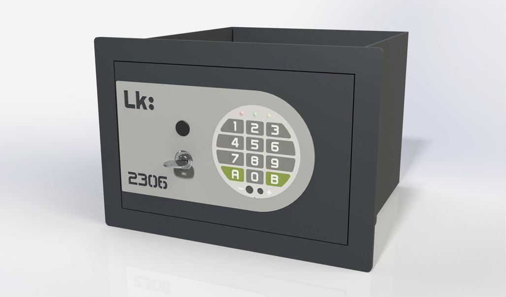 Caja Fuerte de Empotrar LK 2306 con Llave de Puntos y Combinación Electrónica