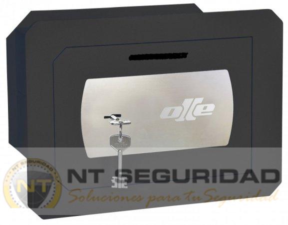 Caja de fuerte de empotrar Olle SERIE 1000 mural de llave con ranura | NTSeguridad