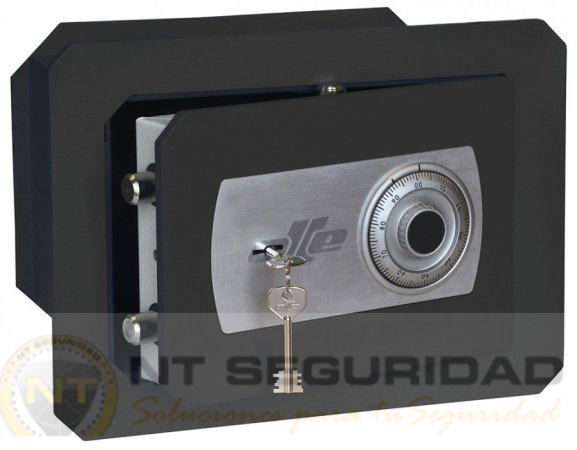 Caja de fuerte de empotrar Olle SERIE 1000 mural mecánica y de llave | NTSeguridad