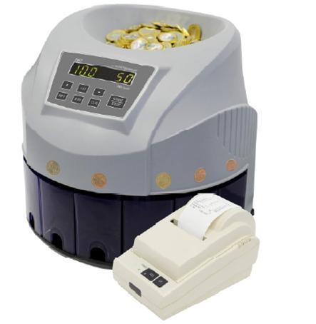 Clasificadora de monedas PROFINDUSTRY PRO-CS-80 + impresora | NTSeguridad